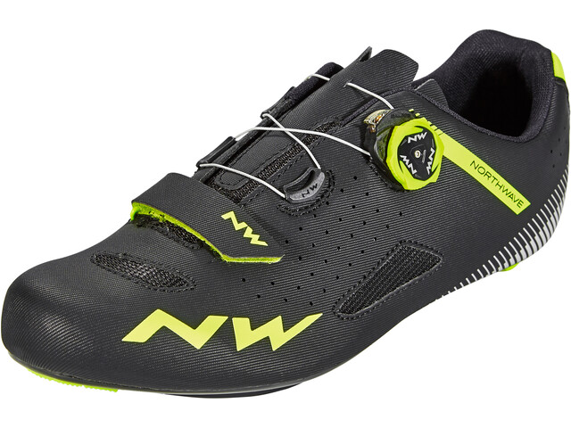 Northwave Core Plus Sko Herrer, black/yellow fluo